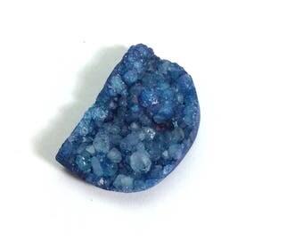 Drusy D shape gemstone 20x29mm
