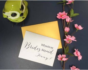Will You Be My Bridesmaid card, Custom Bridesmaid card, Custom Wedding Inviation card, Custom Wedding card, Custom Bridesmaid card