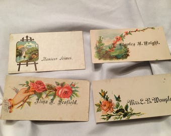 Lot if Victorian calling cards