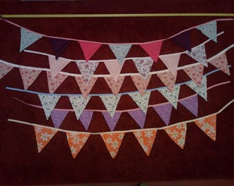 Hand Sewn bunting, various lengths