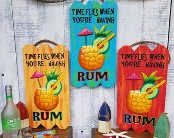 Time flies when you're having RUM!/Backyard bar/patio/deck/partysign