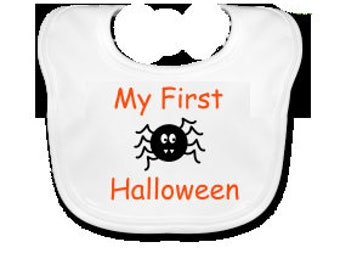 My First Halloween Embroidered Baby's Bib