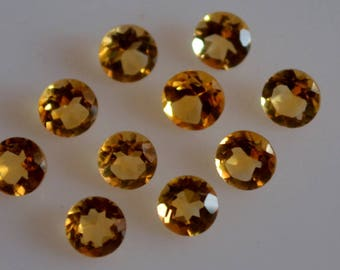 5 mm natural citrine round faceted  loose gemstone AAA quality