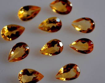 6x9 mm AAA citrine pear faceted - top grade gemstone AAA quality