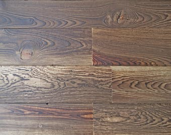 "5"" Reclaimed Wood Planks from Reclaimed Snow Fence Wood - Yellowstone Finish"