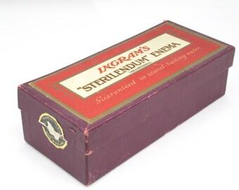 Ingrams Vintage Enema Kit, Curiosity, Made In England, Medical, Collectible, Bizarre, Home Decor, Shocking, Bath & Beauty