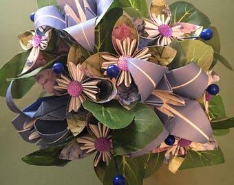 DIY paper flowers bunch