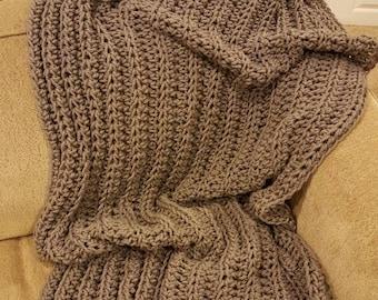 Chunky Blanket, Crochet Afghan - THE VICKI