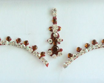 Forehead Maroon Bindi Stickers,Wedding Long Bindis,Bridal Maroon Bindis,India Bindi,Bollywood Bindi,Long Marron Bindi,Self Adhesive Stickers
