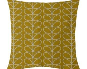 Orla Kiely Linear stem Cushion cover (Mustard)