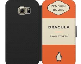 Penguin classics Dracula Bram Stoker flip wallet phone case for iphone 4 5 6 7 8 8 plus Samsung s2 s3 s4 s5 s6 s7 S8 S8 plus and more