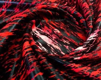 hologram print    4 way Stretch Nylon Lycra Spandex fabric By Yard