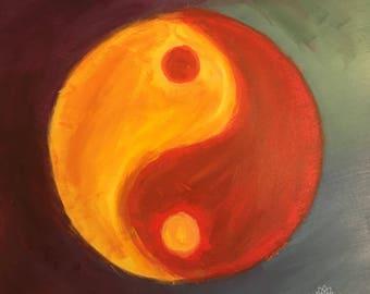 Flame Yin Original Folk Art Painting