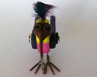 Post Apocalyptic Steampunk Love Bird with Plague Doctor Gas Mask