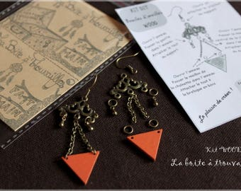 "Kit DIY earrings ""WOOD"" and manual"