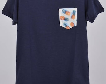 Pineapple Blue Slim pocket t-shirt