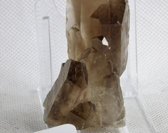 4) Smoky Quartz Crystal Point - Brazil Raw