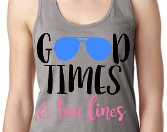 Good Times & Tan Lines Racerback Tank