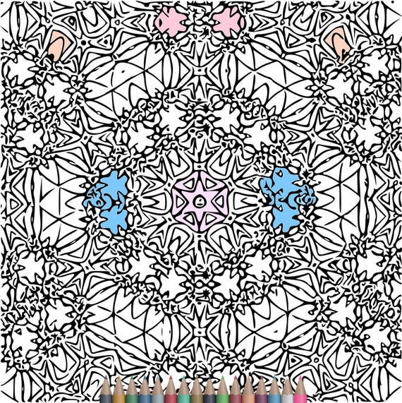 Adult Coloring Pages Kaleidoscope
