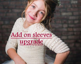 Add on Sleeves Upgrade for the Tutu Dress