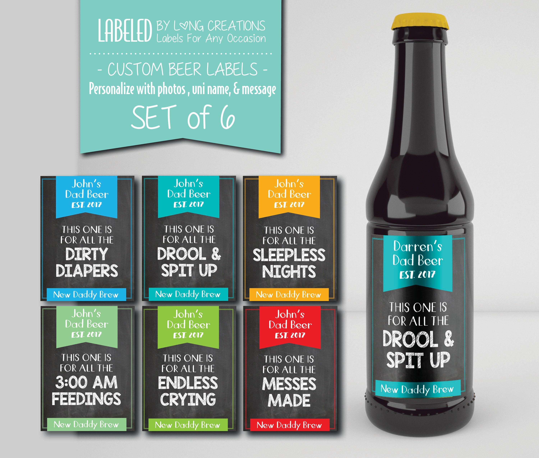 new dad beer labels custom set of bottle stickers beer