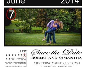 Save the Date Magnet Calendar