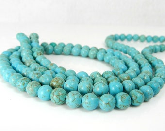 Attract Friendship with Beautiful Round Beaded Turquoise Bracelet