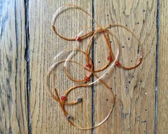 Plastic Orange Ulka Paris necklace