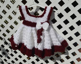 Free shipping : Baby Crochet Dress with Booties