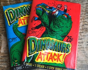 1988 Topps Trading Cards Dinosaurs Attack!