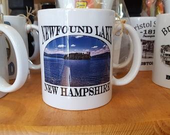 Newfound Lake Belle Island   New Hampshire  Coffee Mug, Frosted Mug, Mason Jar