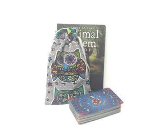 Owl Tarot Bag, Tarot Pouch, Tarot Deck, Tarot Card Pouch, Tarot Card Holder, Tarot Deck Box, Runes, Runes Bag, Witchcraft Supplies