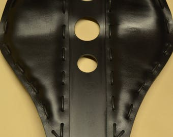 Handmade Bobber Seat Holes Black
