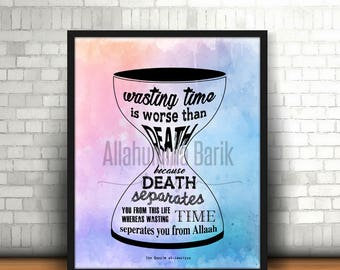 Wasting time is worse than (color) PRINTABLE