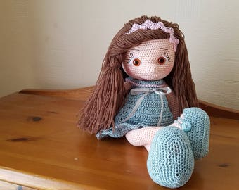 Hand Crocheted Soft Toy Dolly