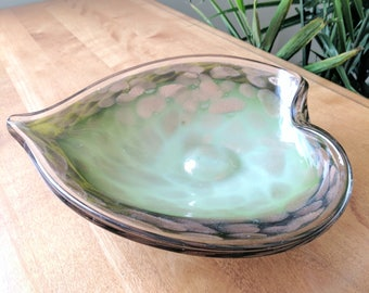 Murano Glass Leaf Dish with Gold Leaf | Italian Glass | Murano Glass Bowl