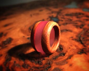 Australian hardwood Forest Oak and resin - handcrafted ring