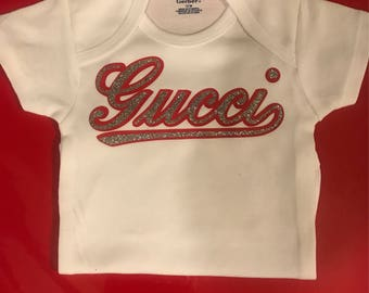 Gucci, baby gucci, gucci inspired, gucci onesie, baby fashion, baby designer, baby shower gift, gucci theme, birthday, gift