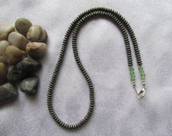 Iris Green Hematite Necklace