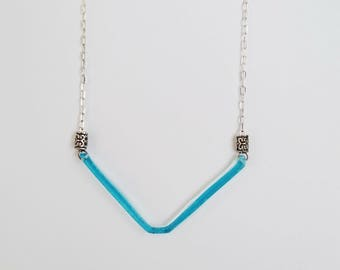 Recycled necklace from Bombay gin. -Glass Jewel-Necklace