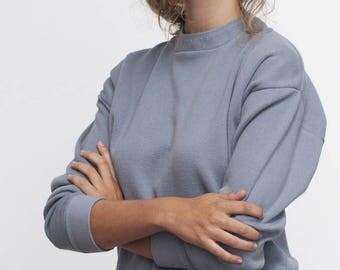 Knit sweater - pebble blue