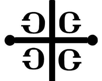 Serbian/ Orthodox  cross vinyl decal, car decal