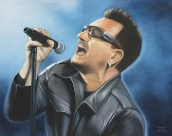 Bono- Original Oil Painting of the Lead Singer of U2