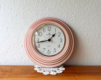 Vintage ceramic wall clock, Junghans, quartz, made in Germany