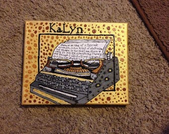 """Customized 8""""x10"""" painting on box canvas"""
