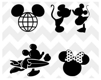 Mickey Mouse SVG   Mickey Mouse Disney SVG   Minnie SVG   Mickey Minnie Silhouette Cricut   Bundle svg   Mickey Surfer   Mickey Epcot