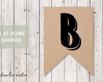 DIY Banner - 'B'. Instant Download. Printable Banner Letters. - 02