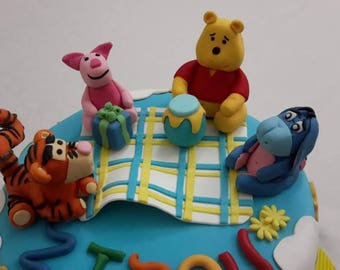 Winnie The Pooh and Friends Fondant Cake Toppers