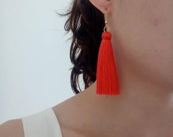 Tassel Earrings, Boho Earrings, Gupsy Earrings,Long Tassel Earrings