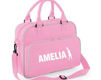 iLeisure Girls Personalised Name Netball Hoop Jump Kit Bag.